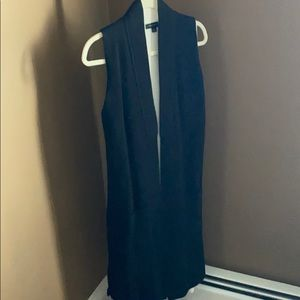 Stunning black cardigan-vest!! Sleek. Stunning.